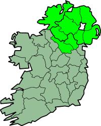 Karte Irland Region Ulster