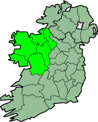 Karte Irland Region Connacht