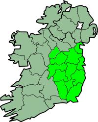 Karte Irland Region Leinste