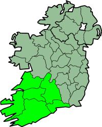 Karte Irland Region Munster